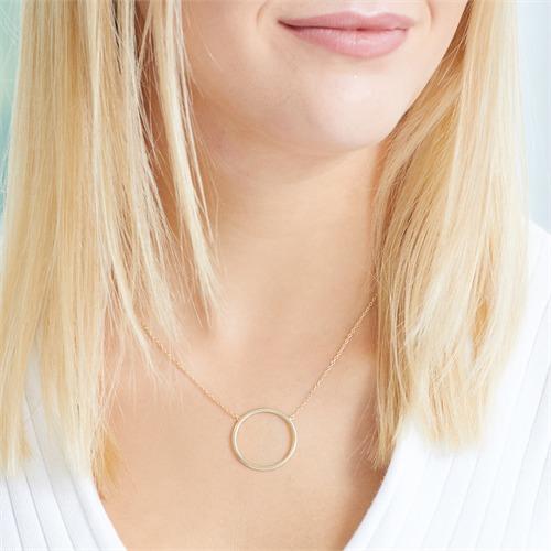 Kette Kreis aus vergoldetem 925er Silber