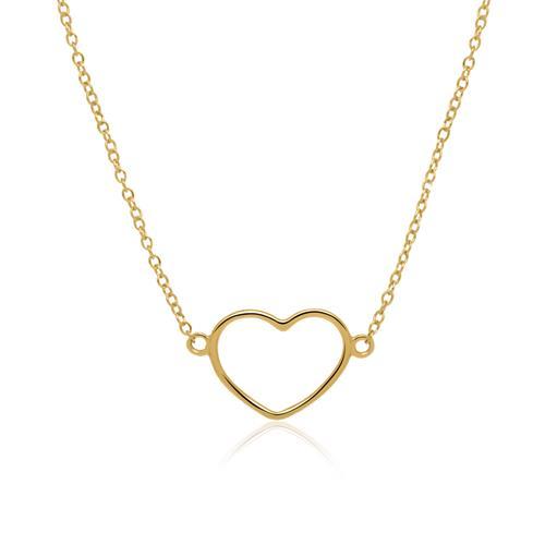 Herzkette aus vergoldetem Sterlingsilber