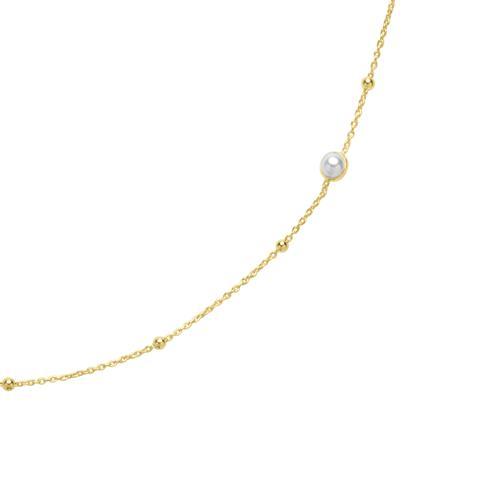 Vergoldete 925er Silberkette mit Perlen
