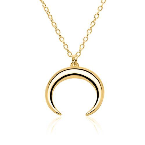 Halskette Halbmond aus vergoldetem Sterlingsilber