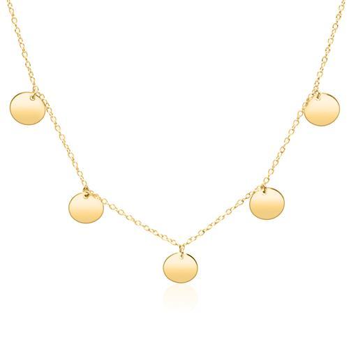 Halskette aus vergoldetem 925er Silber mit Anhängern