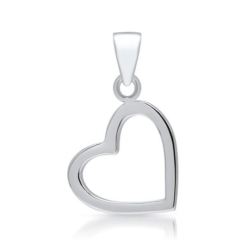 Herzanhänger  Polierter Herz Anhänger aus 925 Silber SP0177