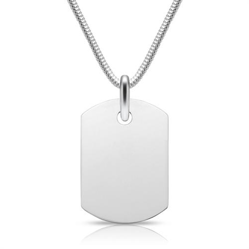 Moderner 925-Anhänger Silber Gravur möglich