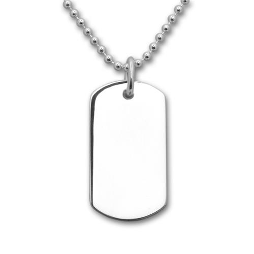 Gravierbares 925 Sterling Silber Dog Tag SP0267
