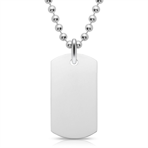 Gravierbares 925 Sterling Silber Dog Tag