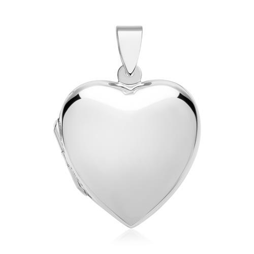 Silber Herz-Medaillon Gravur möglich
