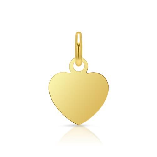 Vergoldeter 925 Silberanhänger Herz gravierbar