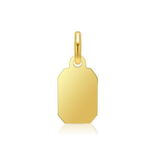 Kleiner vergoldeter Silberanhänger gravierbar