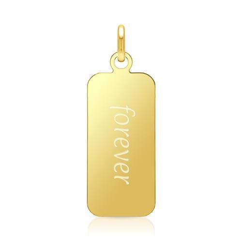 Silber Anhänger & Kette vergoldet gravierbar