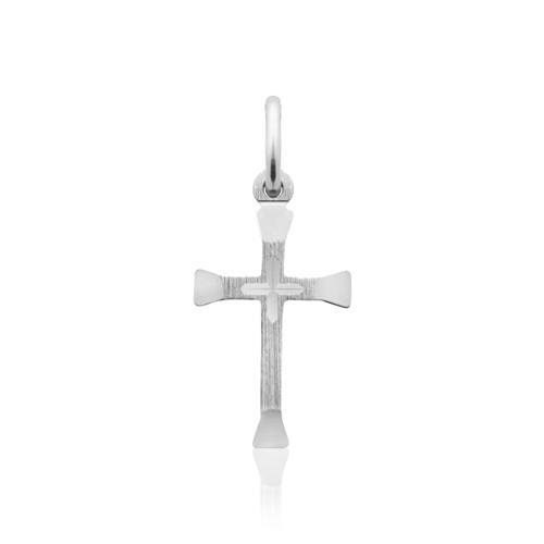 Vergoldeter 925 Silber Kreuzanhänger