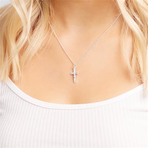 Hochwertiger 925 Silber Kreuzanhänger