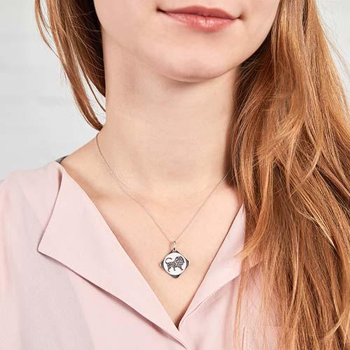 925 Silberanhänger Sternzeichen Löwe