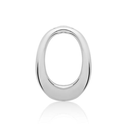925er Silberkette mit Anhänger O-Form