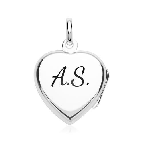 Silberkette Medaillon herzförmig Amethyst