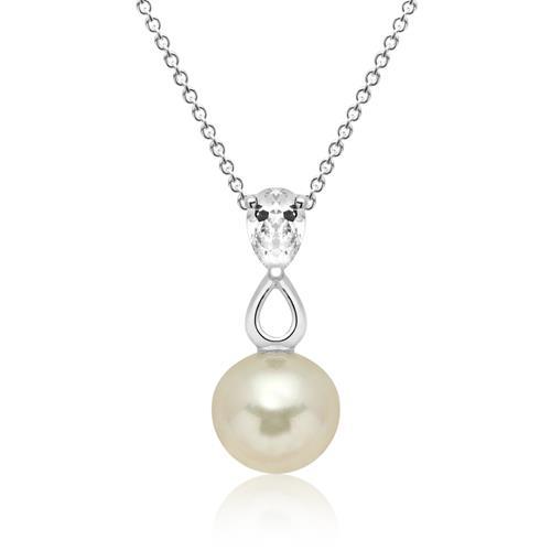 Kette 925 Silber inkl. Anhänger Perle