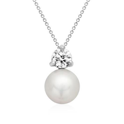 Eleganter Anhänger aus 925er Silber mit Perle