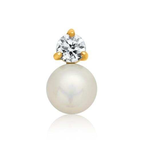 Eleganter Anhänger vergoldetes Silber Perle