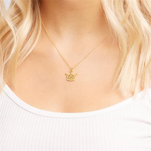 Silberanhänger Krone vergoldet