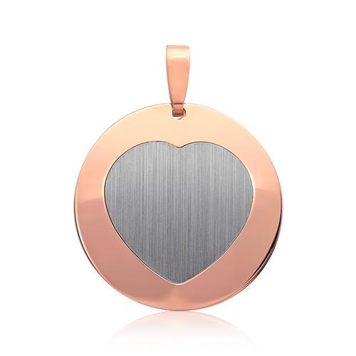 Silberanhänger rosévergoldet Herzform