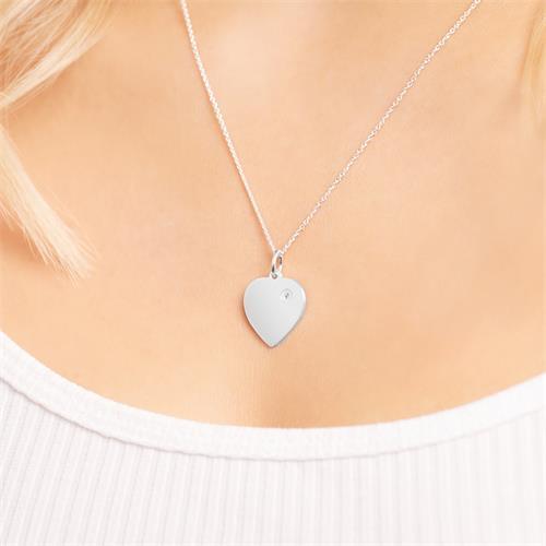 Anhänger 925 Silber Herz Zirkonia