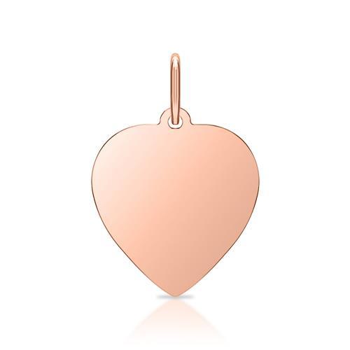 Silberkette Rosé inkl. Herzanhänger