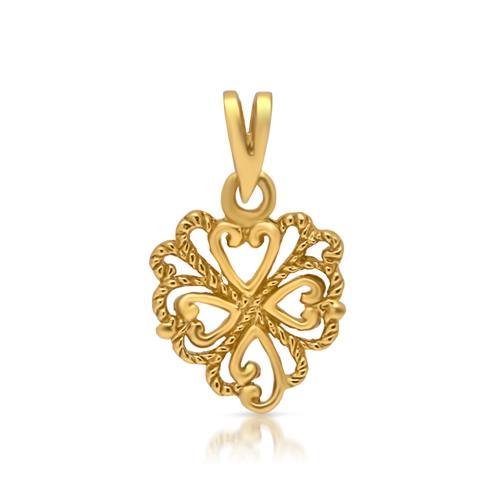 Kette Silber gelbvergoldet mit Herzanhänger