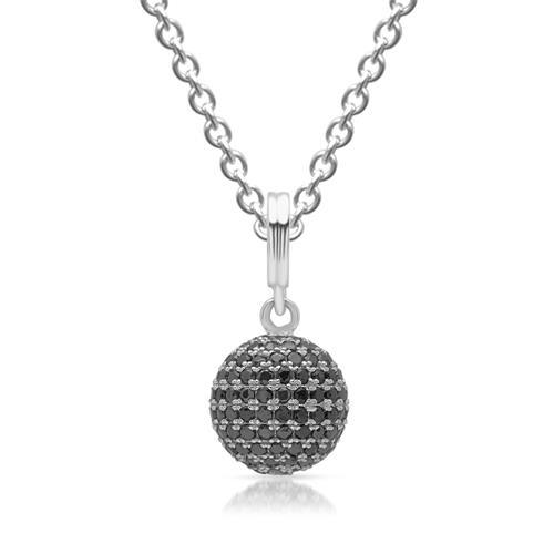Kugelförmiger 925 Silberanhänger mit Steinen