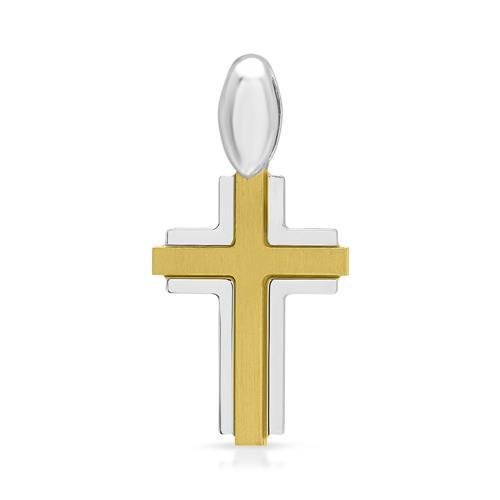 Kreuzförmiger Kettenanhänger aus 925er Silber