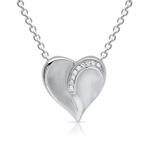 Herzanhänger  Herzanhänger aus 925er Silber mit Steinen SP0709SL