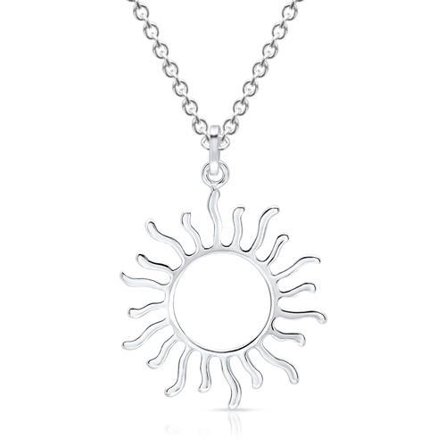 Ketten - 925er Silber Kette mit Sonnen Anhänger  - Onlineshop The Jeweller