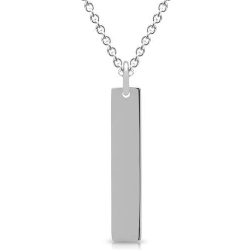 Kette mit länglichem Anhänger 925er Silber