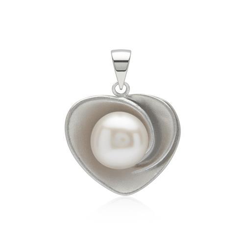 Silberkette mit Herz-Anhänger Perle Silber