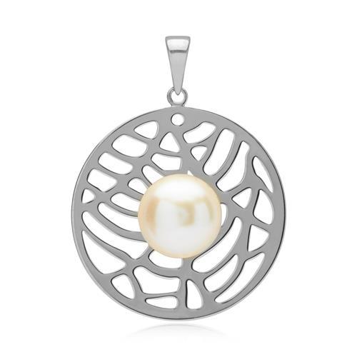 Fantasievoller Anhänger mit Perle 925er Silber