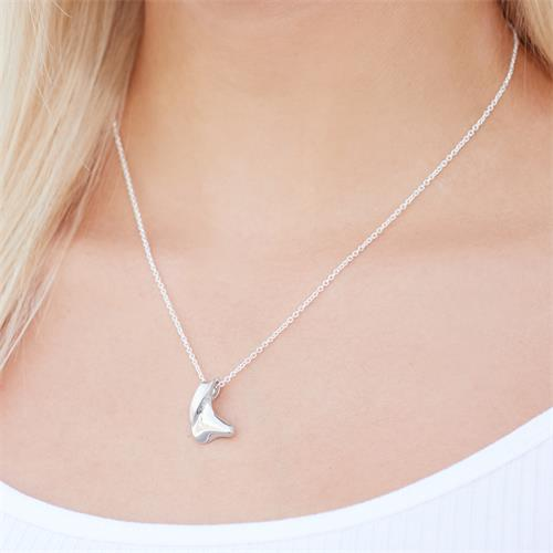 Silberanhänger rhodiniert teilpoliert Silber