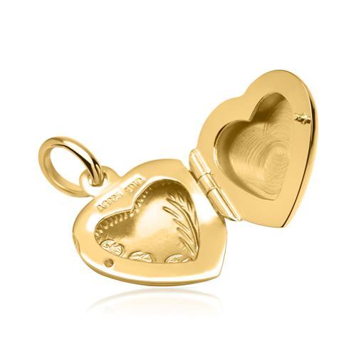 Vergoldetes Herz Medaillon mit Verzierungen