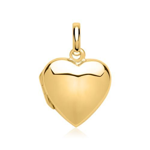 925er Silber Herz-Medaillon gravierbar vergoldet