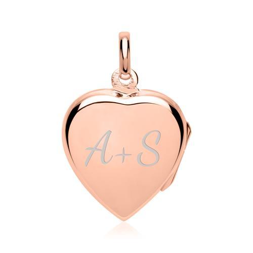 925er Silber Medaillon Inschrift Love rosé