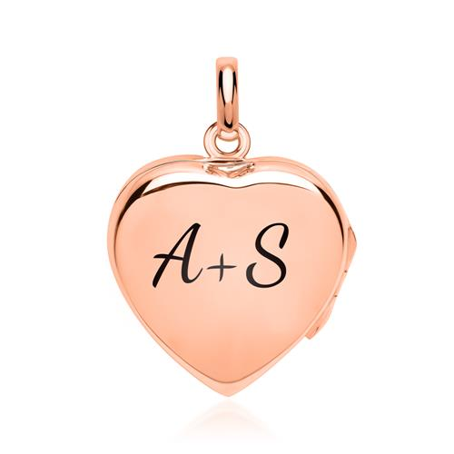Poliertes Herzmedaillon rosé vergoldet