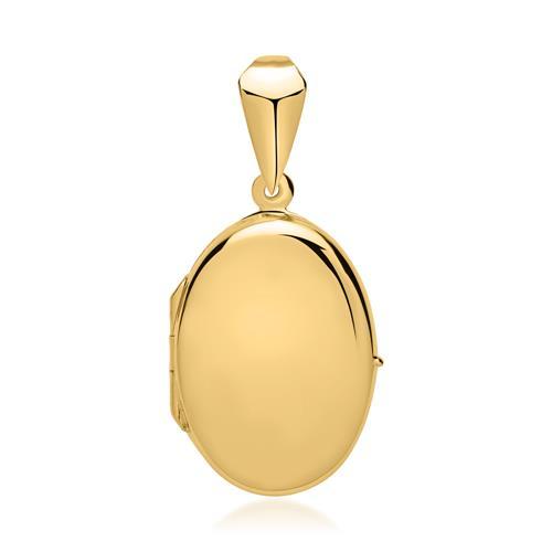 Ovales Medaillon 925er silber vergoldet