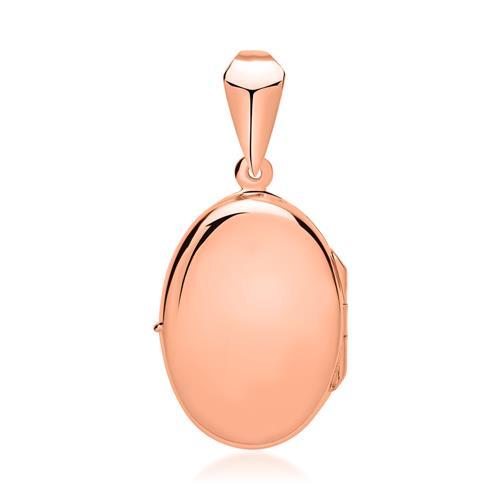 Ovales Medaillon poliert rosé vergoldet