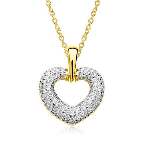 Herz Anhänger Kette 925er Silber vergoldet