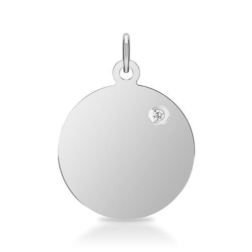 925er Silber Kette Anhänger Diamant Gravur