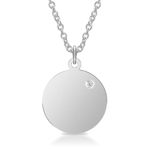 Kette mit anhänger  925er Silber Kette Anhänger Diamant Gravur SP0838-SLK