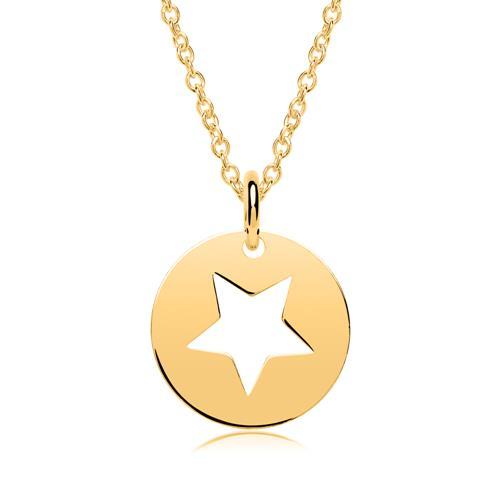 Vergoldeter Sterlingsilber Anhänger Stern