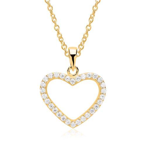 Herzkette 925er Silber vergoldet