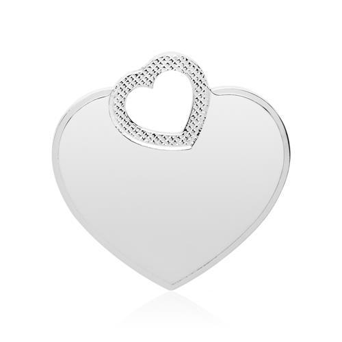 Gravierbarer Herzanhänger aus 925er Sterlingsilber