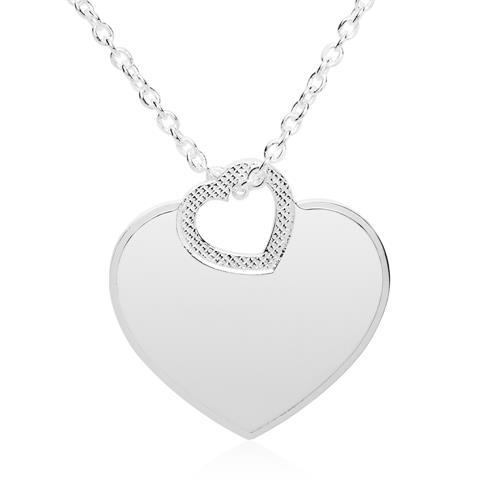 Gravierbare Herzkette aus 925er Sterlingsilber