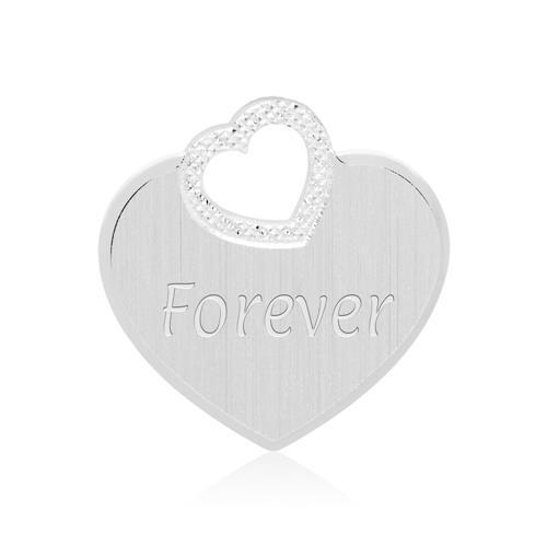 Gravierbare Sterlingsilber Halskette Herzen