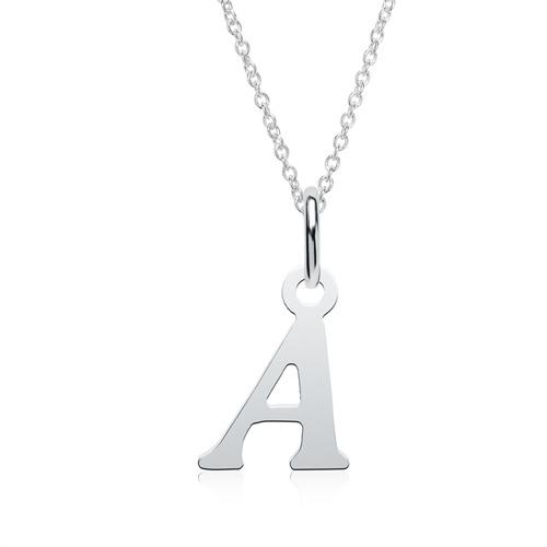 Kette mit Buchstabenanhänger A aus 925er Silber