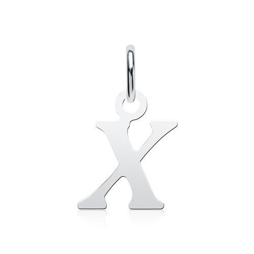 Kette Buchstabe X aus Sterlingsilber